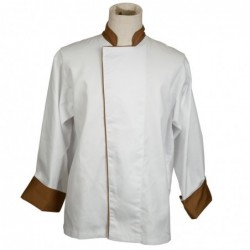 bi-color long-sleeved chef...