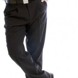 Dress pants with tweezers